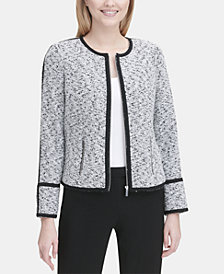 Calvin Klein Piped Tweed Jacket