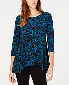 Anne Klein Printed Trapeze Top