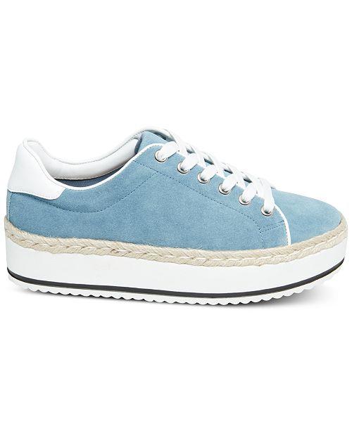 MaddenEspadrilles daim de femmesChaussures Rule Steve bleu a sport en lacets pour 54qjLAR3