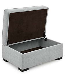 """Radley 36"""" Fabric Chair Bed Storage Ottoman - Custom Colors, Created for Macy's"""
