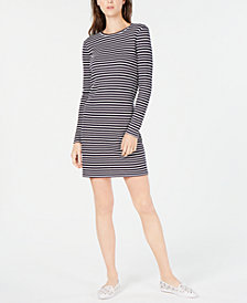MICHAEL Michael Kors Long-Sleeve Striped Dress