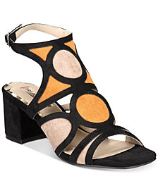 Rialto Saffron Block-Heel Slide Sandals