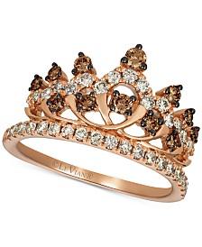 Le Vian® Chocolate™ & Nude™ Diamond Tiara Ring (7/8 ct. t.w.) in 14k Rose Gold