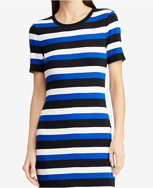 16bb9c9ea70 Lauren Ralph Lauren Striped Cotton Midi Dress   Reviews - Dresses ...