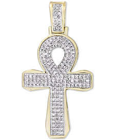 Men's Diamond Ankh Cross Pendant (1/2 ct. t.w.) in 10k Gold