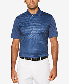 PGA TOUR Men's Performance Stretch Moisture-Wicking Tropical Stripe Polo
