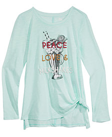 Epic Threads Big Girls Long-Sleeve Side-Tie T-Shirt, Created for Macy's
