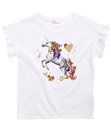Epic Threads Big Girls Reversible Sequin Unicorn T-Shirt, Created for Macy's