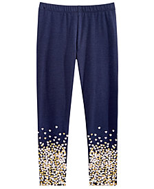 Epic Threads Little Girls Heart Border-Print Leggings, Created for Macy's