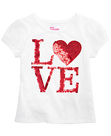 Epic Threads Little Girls Glitter Sequin Love T-Shirt, Created for Macy's