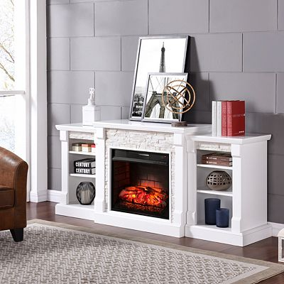 Southern Enterprises Wyndcliffe Infrared Fireplace Quick Ship