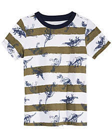 Epic Threads Little Boys Dino Stripe T-Shirt, Created for Macy's