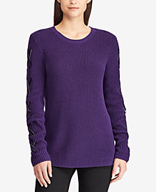 Lauren Ralph Lauren Petite Lace-Up Sweater
