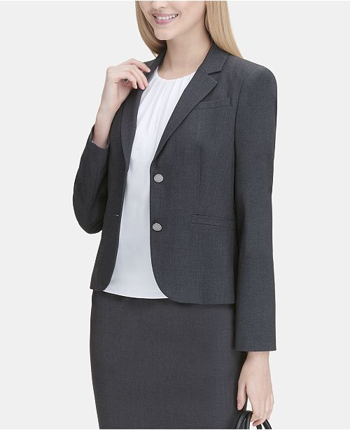 b0ab119fc934 Calvin Klein Petite Two-Button Jacket   Reviews - Wear to Work ...