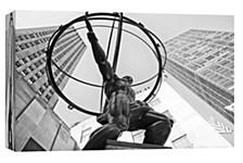 Statue Rockefeller Center Decorative Canvas Wall Art