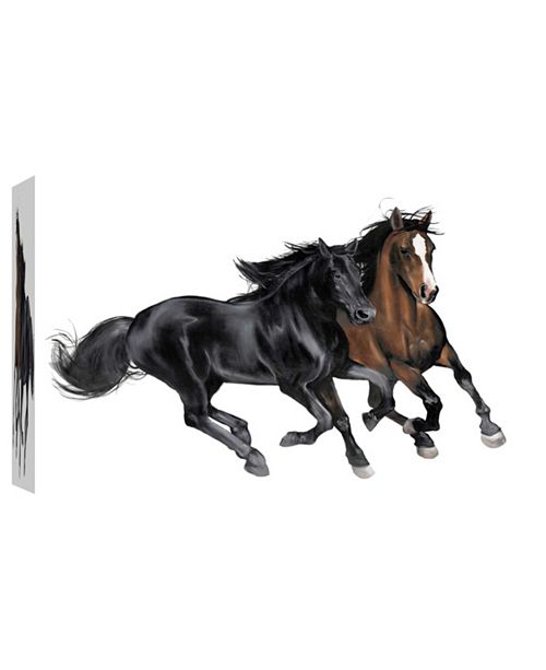 PTM Images & Brown Horse Decorative Canvas Wall Art