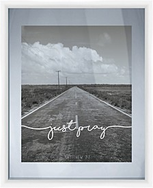 Living 31Just Pray Black and WhitePhotography Decorartive Wall Art