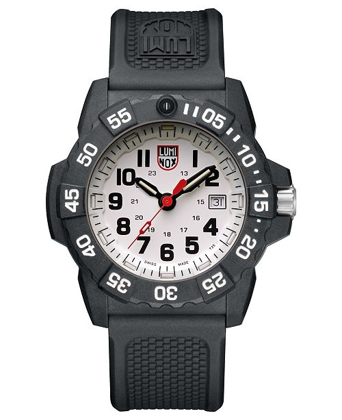 Luminox Navy Seal 3500 Series Black Strap White Dial Mens Watch - 3507