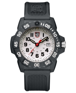 Luminox Navy Seal 3500 Series Black Strap White Dial Mens Watch - 3507