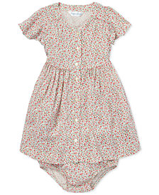 Polo Ralph Lauren Baby Girls Floral-Print Fit & Flare Dress