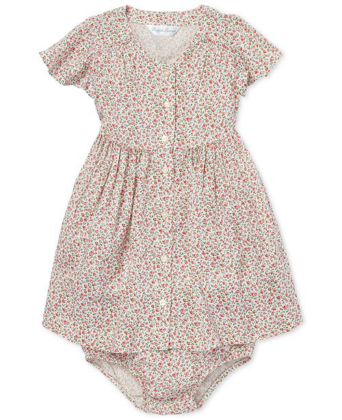 f80f2cfa4 ... Polo Ralph Lauren Baby Girls Floral-Print Fit & Flare Dress ...