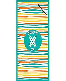 High Performance Beach Towel With Pocket - Wavy Stripe
