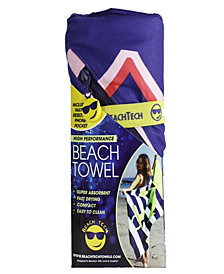 BeachTech HP Beach Towel With Pocket - Seas The Day - Pink