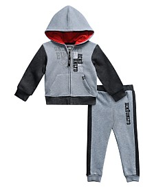 Ecko Toddler Boys 2-Pieces Full-Zip Logo Hoodie and Jogger Pants Set