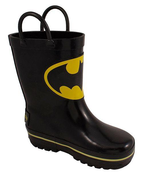 Trimfoot Marvel Youth Black Batman Rain Boot