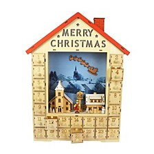Christmas Wooden LED Calendar - Tabletop Decor
