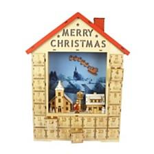 Christmas Wooden LED Calendar - Tabletop Decor