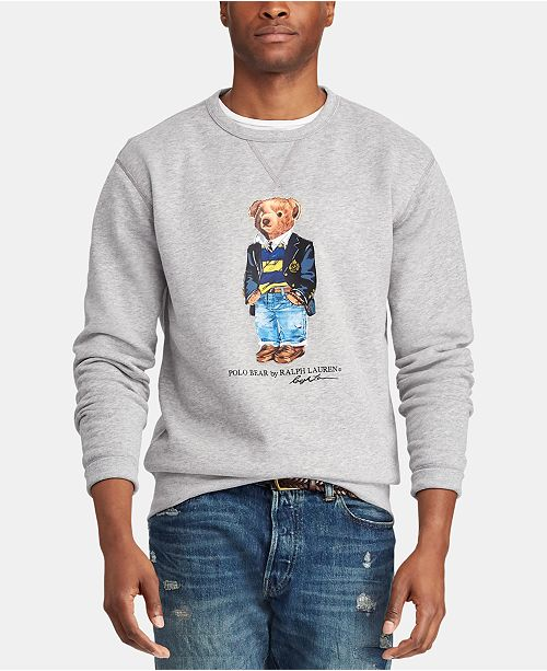 f683c9788f14e5 Polo Ralph Lauren Men's Big & Tall Polo Bear Fleece Sweatshirt ...
