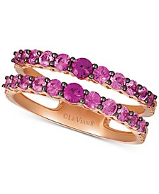 Pink Sapphire (1-1/6 ct. t.w.) & White Sapphire (1/5 ct. t.w.) Ring in 14k Rose Gold
