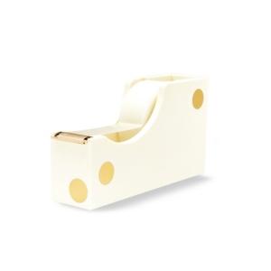 Kate Spade New York Acrylic Tape Dispenser, Gold Dot