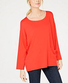 Eileen Fisher Tencel Stretch Jersey Oversized Tunic, Regular & Petite