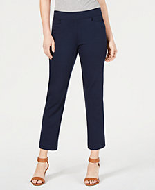 Style & Co Cropped Pull-On Straight-Leg Pants, Created for Macy's