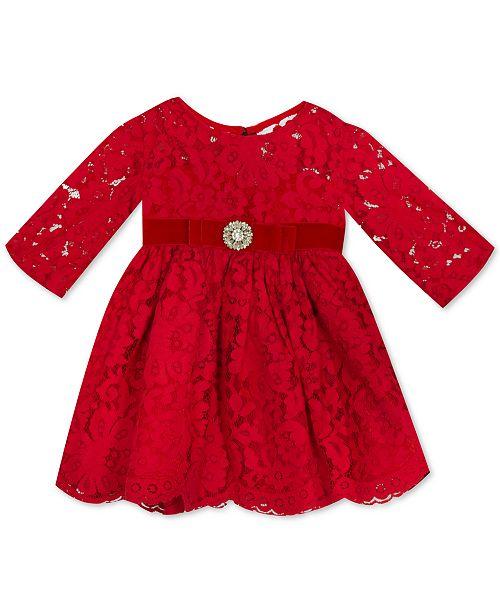 12bc973ec4e7 Rare Editions Baby Girls Illusion Lace Dress   Reviews - Dresses ...