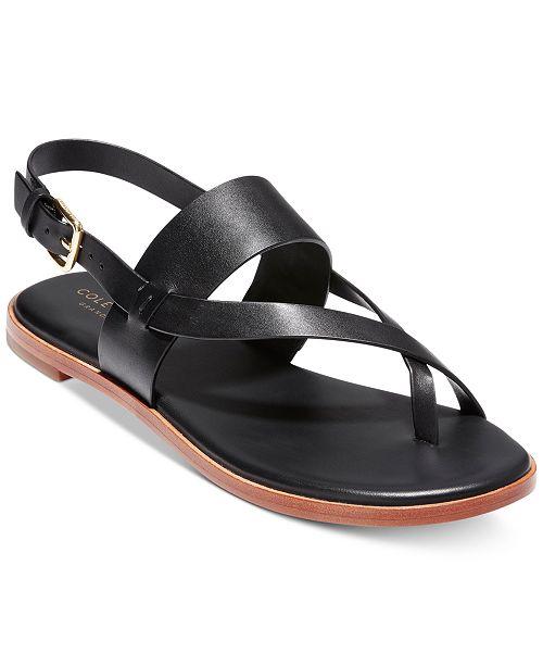 ee9fae3c77bd Cole Haan Anica Thong Flat Sandals   Reviews - Sandals   Flip ...
