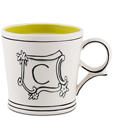 CLOSEOUT! Home Essentials Molly Hatch Monogram Mug, Letter C