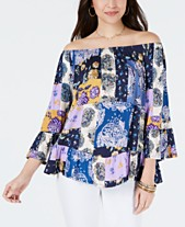 a5bdaf3ecd7e Style   Co Off-The-Shoulder Floral-Print Top
