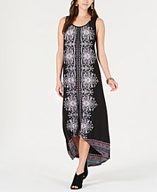 Style & Co Petite Printed Crisscross-Back Dress, Created for Macy's