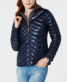 Tommy Hilfiger Puffer Jacket with a Fleece Hood, Created for Macy's
