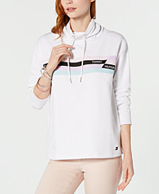 Tommy Hilfiger Graphic Funnel-Neck Sweatshirt, Created for Macy's