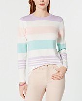 Tommy Hilfiger Cotton Multi-Stripe Lucy Sweater 8b857b2f3e1
