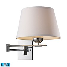 Lanza 1-Light Swing Arm Sconce in Polished Chrome - LED Offering Up To 800 Lumens (60 Watt Equivalent)