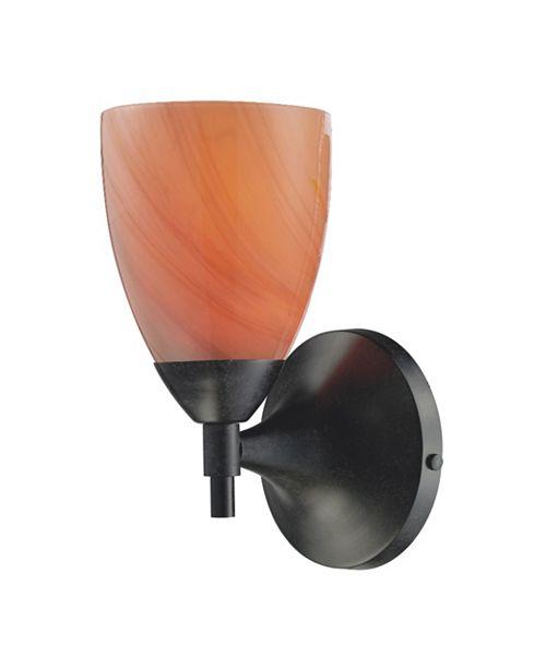 ELK Lighting Celina 1-Light Sconce in Dark Rust with Sandy Glass