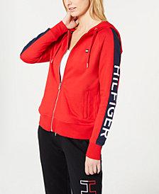 Tommy Hilfiger Sport Zip Logo Hoodie