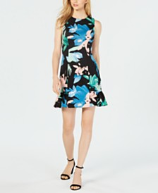 Vince Camuto Floral Scuba Sheath Dress
