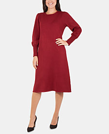 NY Collection A-Line Sweater Dress