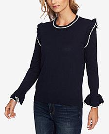 CeCe Ruffled Sweater